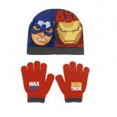 Conjunto Gorro e Luvas Avengers