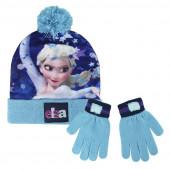 Conjunto Gorro e Luvas Elsa Frozen