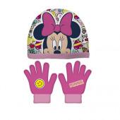 Conjunto Gorro e Luvas Minnie Disney