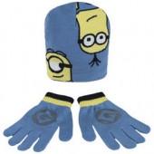 Conjunto Gorro + luvas  Blue Minions