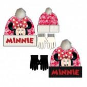 Conjunto gorro pompom + luvas Minnie - Sortido