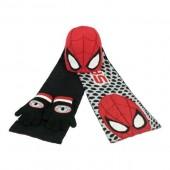 Conjunto inverno 3 pçs gorro+luvas+cachecol Marvel Spiderman