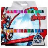 Conjunto lápis Cera Marvel Avengers