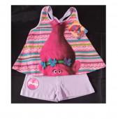 Conjunto Lilás calção e t-shirt Poppy