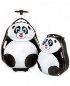 Conjunto mala viagem e mochila Heys Kids - Panda