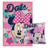 Conjunto manta almofada Disney Minnie Dots