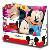 Conjunto manta + almofada Mickey e Minnie Disney