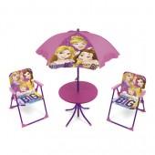 Conjunto Mesa c/ chapéu e Cadeiras Princesas