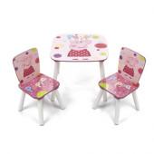 Conjunto Mesa + Cadeiras Porquinha Peppa