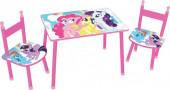 Conjunto Mesa e Cadeiras My Little Pony