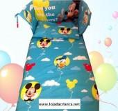 Conjunto mickey balões cama de grades
