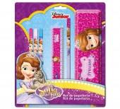 Conjunto Papelaria 6 pçs Disney Princesa Sofia