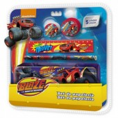Conjunto Papelaria Blaze e as Monster Machines 5 pçs