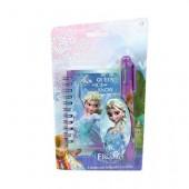 Conjunto papelaria Bloco de notas + caneta 6 cores Frozen