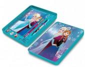 Conjunto papelaria em caixa metálica de Frozen