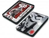 Conjunto papelaria em caixa metálica de Star Wars VII