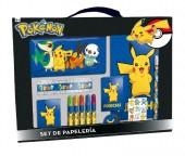 Conjunto Papelaria em mala A4 - Pokemon