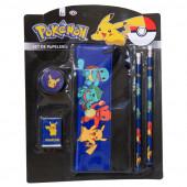 Conjunto Papelaria Pokemon  5 pç
