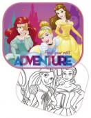Conjunto Parasol + poster para pintar Princesas
