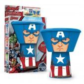 Conjunto Pequeno Almoço Capitão América 3 Peças Empilhável