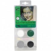 Conjunto pintura facial bruxa