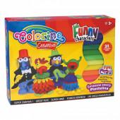 Conjunto Plasticinas Colorino 31 Peças