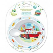 Conjunto prato + colher Micro ondas Cars Baby