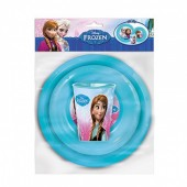 Conjunto pratos + copo Frozen