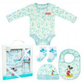 Conjunto Primeira Roupinha Bebé Mickey 4 peças