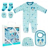 Conjunto Primeira Roupinha Bebé Mickey 5 peças