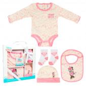 Conjunto Primeira Roupinha Bebé Minnie 4 peças