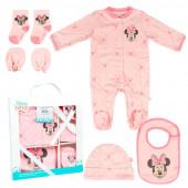 Conjunto Primeira Roupinha Bebé Minnie 5 peças