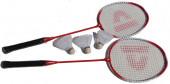Conjunto Raquetes Badminton Vermelho