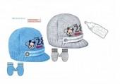 Conjunto Recem Nascido Gorro e luvas Mickey