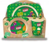 Conjunto Refeição Bambu Crazy Dino