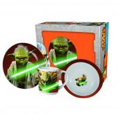 Conjunto Refeição Cerâmica 3 peças Yoda Star Wars
