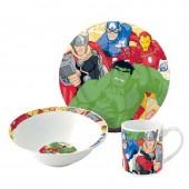 Conjunto refeição cerâmica Marvel Avengers