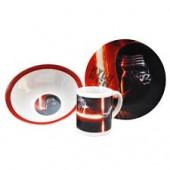 Conjunto Refeição Cerâmica Star Wars Kylo Ren