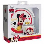 Conjunto refeição Disney Minnie Bubbles