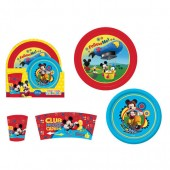 Conjunto refeição em plástico Mickey