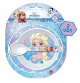 Conjunto refeição Frozen Disney p/ Micro-ondas 2 Pçs