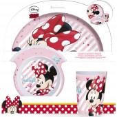 Conjunto Refeição Melamina Minnie Disney