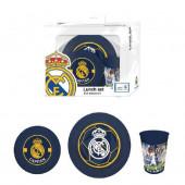 Conjunto refeição melamina Real Madrid
