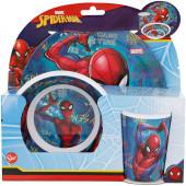 Conjunto Refeição Melamina Spiderman Marvel