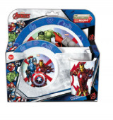 Conjunto Refeição Microondas Avengers Marvel