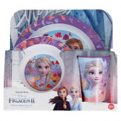 Conjunto Refeição Microondas Frozen 2