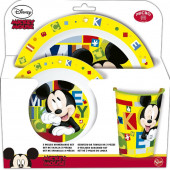 Conjunto Refeição Microondas Mickey Watercolors