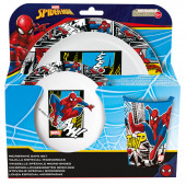 Conjunto Refeição Microondas Spiderman Marvel