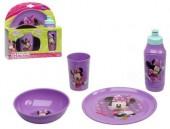 Conjunto Refeição Minnie Mouse Lilás