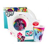 Conjunto refeição plástico My Little Pony